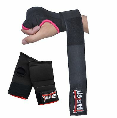 Twister GEL Padded Pro wrap Inner Hand Wrap Gloves - MMA Boxing Wrist Fight PAIR