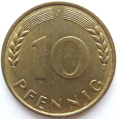 TOP! 10 Pf 1949 J in BANKFRISCH / STEMPELGLANZ SELTEN !!!