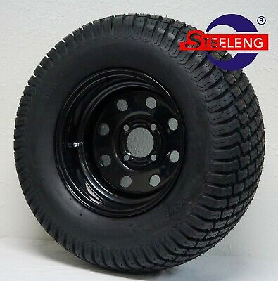 "GOLF CART 12"" BLACK 8-HOLE STEEL WHEELS/RIMS and 23"" TURF TIRES (SET OF 4)"