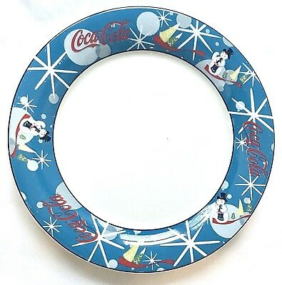 COCA COLA Christmas LAUGHING SNOWMAN Snowmen Holiday Dinner PLATE