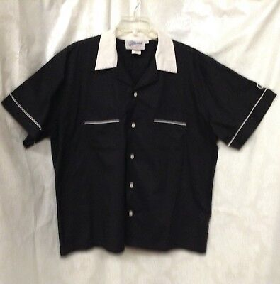 Cruisin USA Black Bowling Shirt Size - Bowling Shirt Kostüme