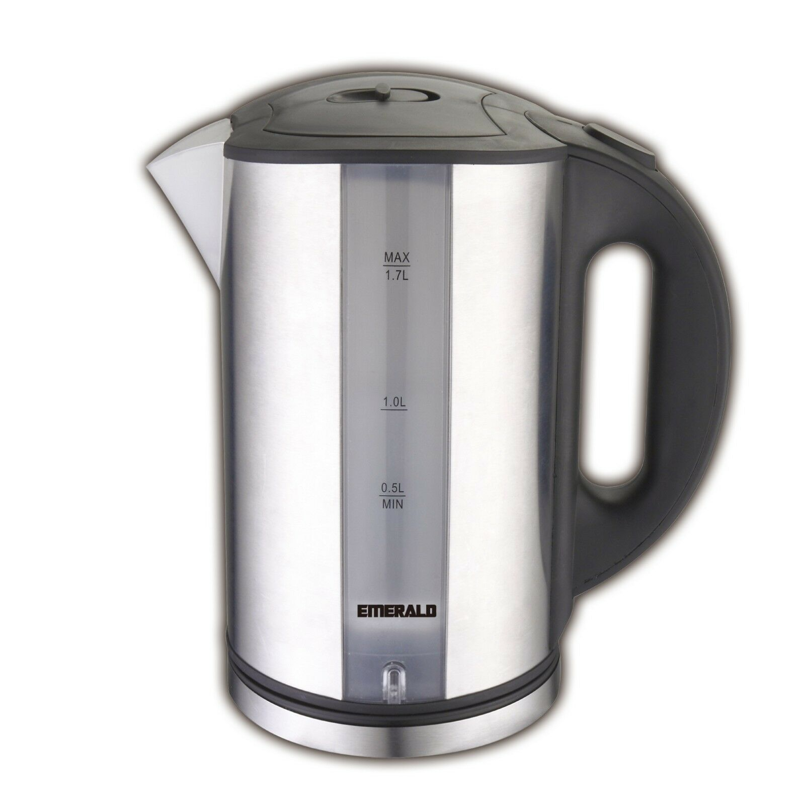Emerald 1.7L Stainless Steel Electric Tea Kettle with LED