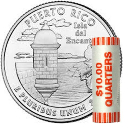 🇺🇸 PUERTO RICO 2009-D  UNCIRCULATED BANK WRAPPED QUARTERS ROLL