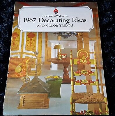 1967 MCM Vtg DECORATING IDEAS & COLOR TRENDS Sherwin Williams BIG BOOKLET Mid C - 60's Decorations Ideas