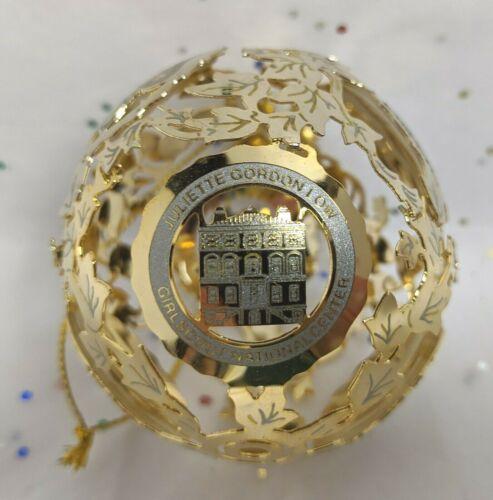 Girl Scouts Gold Trefoil Ornament Die Cut Metal Ball Juliette Godon Low Wagggs