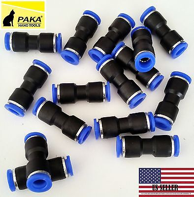 10 Pcs Air Pneumatic 516to 516 8mm Straight Push In Connectors Quick