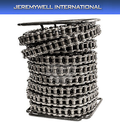 #60H Heavy Duty Roller Chain 50 Feet with 5 Connecting Links