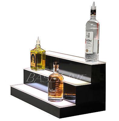 23 Led Bottle Rack Bar Shelf Three Step Home Bar Glass Display Shelving Rack