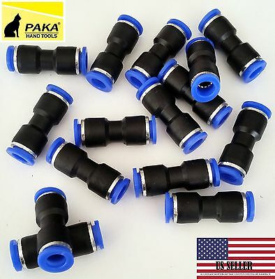 10 Pcs Air Pneumatic 14 To 14- 6mm To 6mm Straight Push In Connectors Quick
