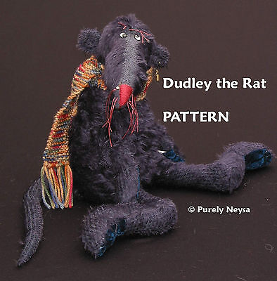 """Mohair """"Dudley the Rat"""" a Rat  PATTERN by Neysa A. Phillippi of Purely Neysa"""