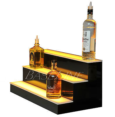 19 Led Lighted Bar Shelf Three Step Liquor Bottle Glorifier Back Bar Shelving