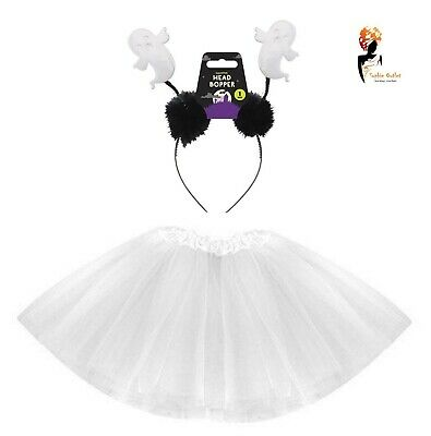 CUTE GHOST TUTU  Halloween COSTUME Kids Toddler Ladies Fancy Dress Outfit  - Toddler Ghost Halloween Costumes
