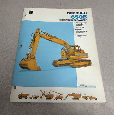 Dresser 650b Hydraulic Excavator Brochure Specifications Manual 1986 Ad-70102-r