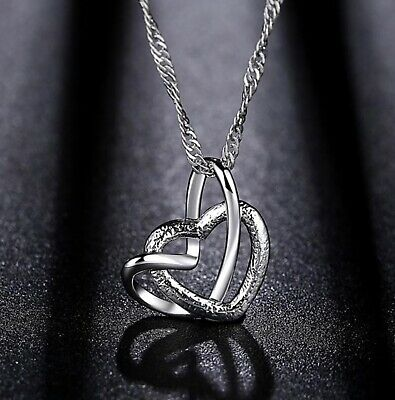 Necklace Sterling Silver Necklace with Heart Shaped Pendant Beautiful Heart Shaped Pendant