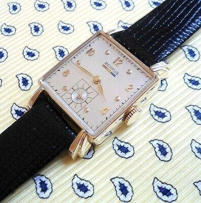 "Vintage 1955 Swiiss in 10K Gold Filled BENRUS ""Citation"" 17 Jewels Men""s Watch"