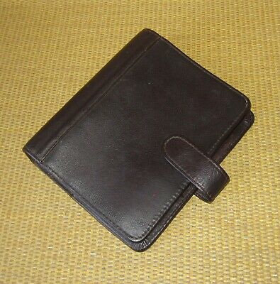 Compact Franklin Coveyquest Burgundy Flex Leather 1.25 Rings Plannerbinder