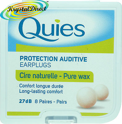 Quies Pure Natural Wax Ear Plugs Earplugs Protection 8 pairs (Quies Ear Plugs)