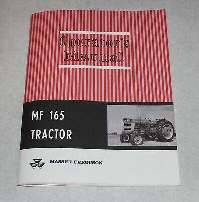 Massey Ferguson Mf 165 Tractor Operators Owners Manual Gas Diesel 1965-1979