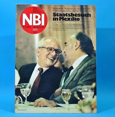 DDR NBI 38 1981 Fürstenwalde Mexiko Honecker Weißenborn Leipzig Weimar Varga Q