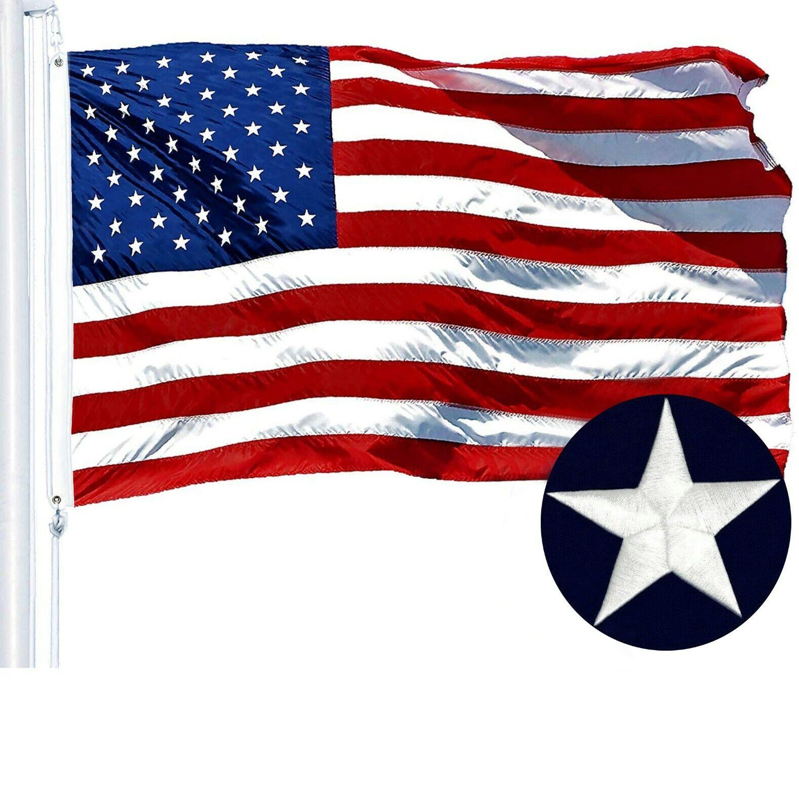 2'x3' ft, American Flag US USA | EMBROIDERED Stars, Sewn Str