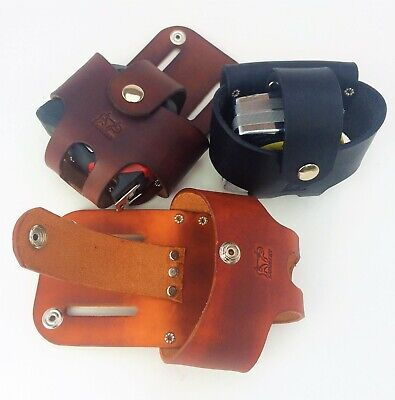 Leather Tape Measure Holster w/ Snap HANDMADE IN AMERICA