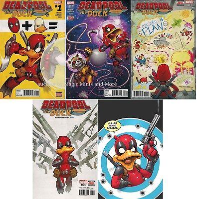 DEADPOOL THE DUCK comic (5) issue SET #1 2 3 4 5 Marvel 1st print lot (Deadpool Comic 1)