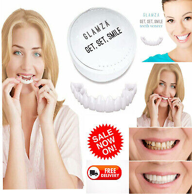 New Snap Cap On White Teeth Cover Instant Smile Comfortable Flex Perfect Veneers