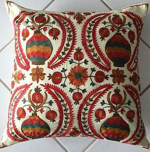 Suzani Embroidery Deko Kissen Orientalisch45x45 pillow almohada oreiller Cuscino