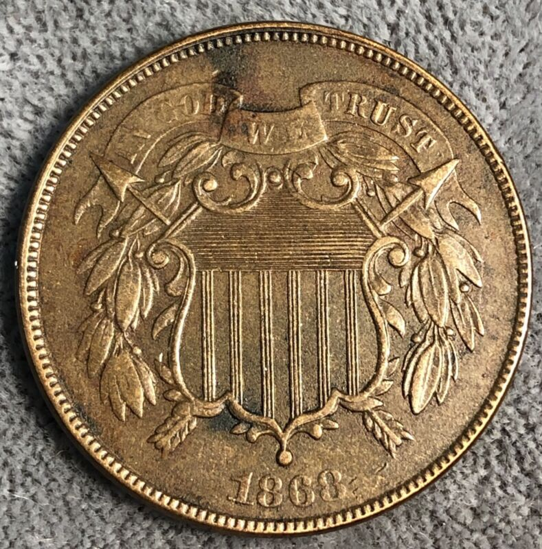 1868 Two Cent Piece.