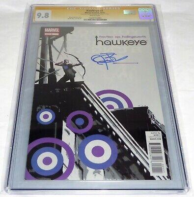 Hawkeye #1 CGC SS 9.8 Signature Autograph JEREMY RENNER Avengers Hulk Marvel 💎