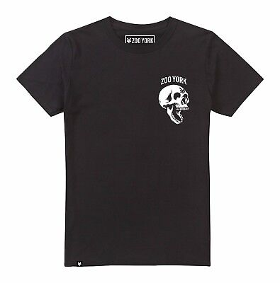Mens Zoo York - Skeleton Head Skull - T-Shirt - Black - Street Skate Fashion