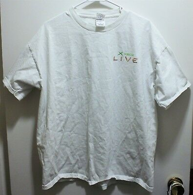 X-Box Live Promotional T-Shirt Microsoft Official XL, used for sale  Shipping to India