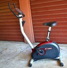 MAGNETIC UPRIGHT STATIONARY FITNESS EXERCISE BIKE_ACTION Pendle Hill Parramatta Area Preview