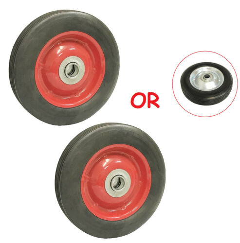 """( 2pc ) 6"""" Solid Hard Rubber Tire for Dolly Hand Cart, 5/8"""" Axle Hole"""