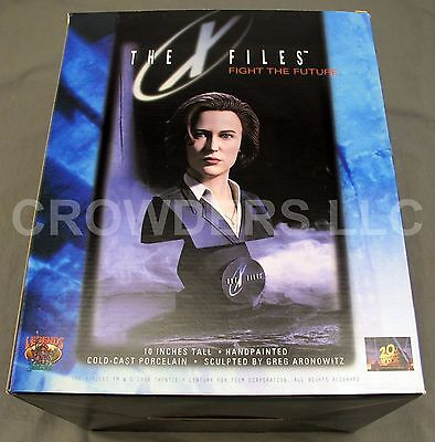 "10"" Porcelain Agent Scully Bust X Files Fight the Future Legends in 3D Aronowitz"