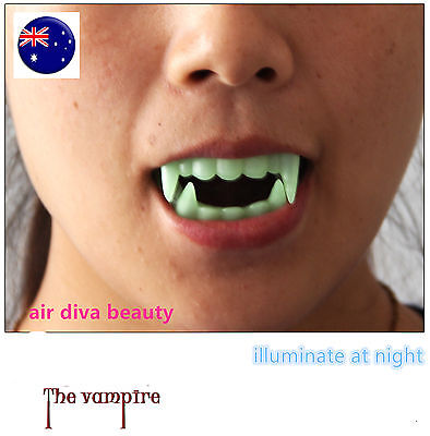 Night Luminous Halloween Costume Party Zombie Vampire Wolf Fangs Tooth Prop - Wolf Fangs