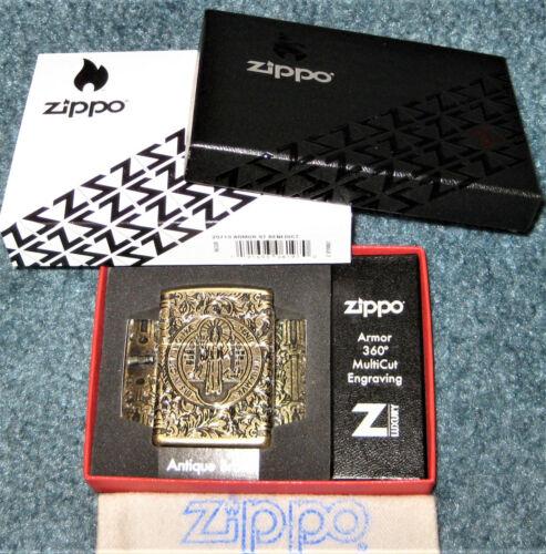 ZIPPO  LUXURY Lighter ST BENEDICT DESIGN  360 Multi Cut ARMOR 29719 Constantine