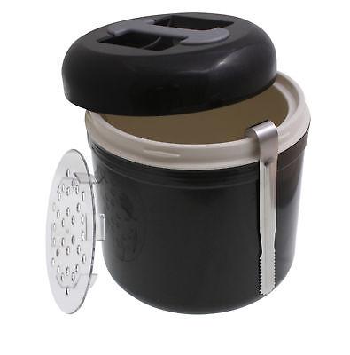 Eiswürfelbehälter Eisbehälter 4l Eiswürfeleimer anthrazit Eiseimer Eiswürfel Bar