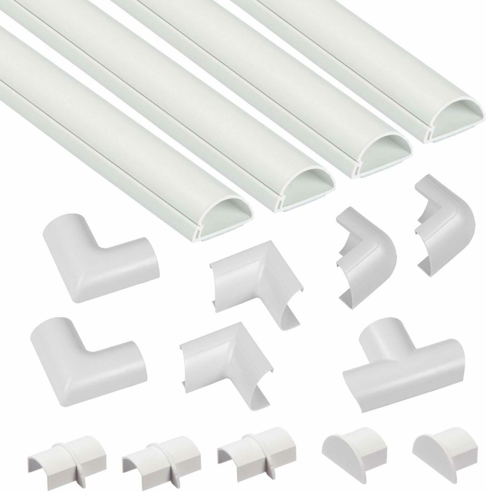 Adhesive Cable Tidy Mini Wire Trunking Conduit Tidy Hides Cables TV Wall Cabling