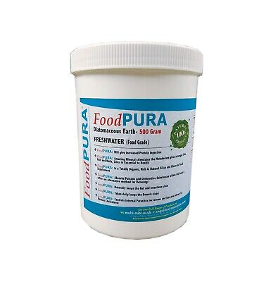 Food PURA® 500G CODEX FOOD Grade Diatomaceous Earth DE Human Fresh Water Sourced