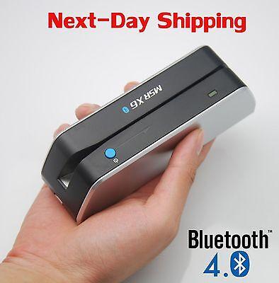 Msr X6 Bluetooth Credit Card Readers Writer Encoder Card Skimmer Swiper Scanner