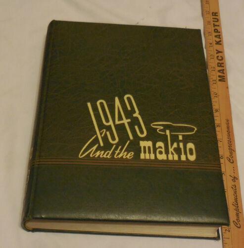 OLD Universitty Ohio State 1943 Makio Yearbook 1942 National Champship Football