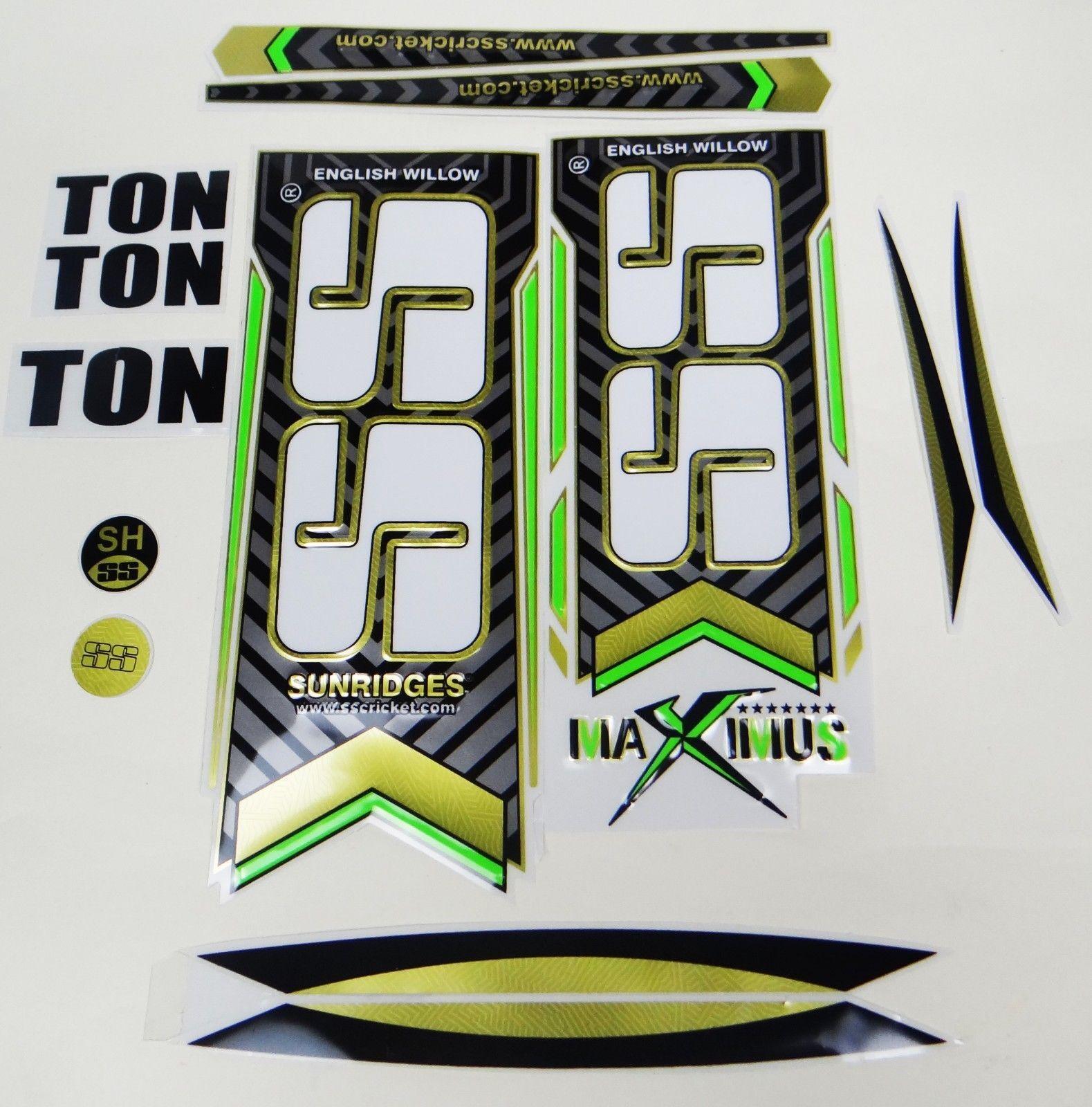 2 x Brand new 2019 model cricket bat stickers rare on  flouro yellow