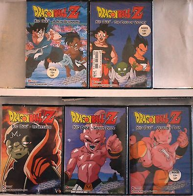 Dragon Ball Z Series Complete Kid Buu Saga Collection 5 DVD Set No Box Uncut