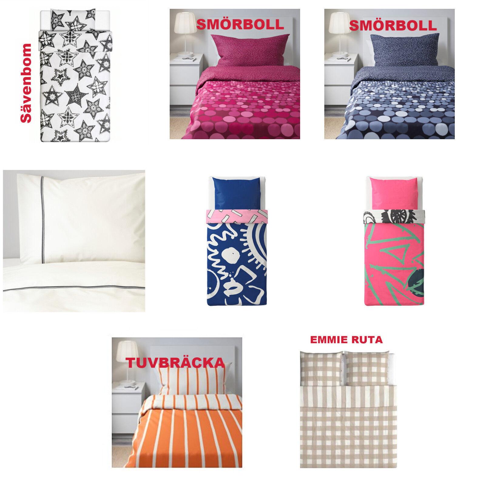 Ikea KLIPPLIN Bettwäsche Set 3 tlg 240 x 220 rot rosa neu OVP Baumwollsatin