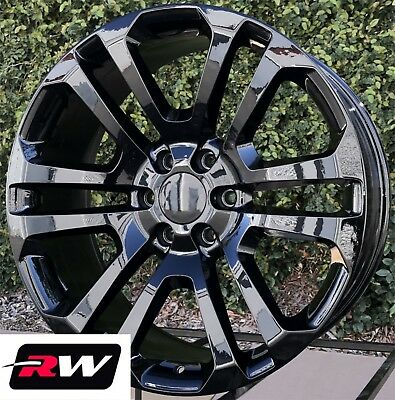 "22 x9"" inch Chevy Suburban CK158 Factory Style Wheels Gloss Black Rims 6x139.7"