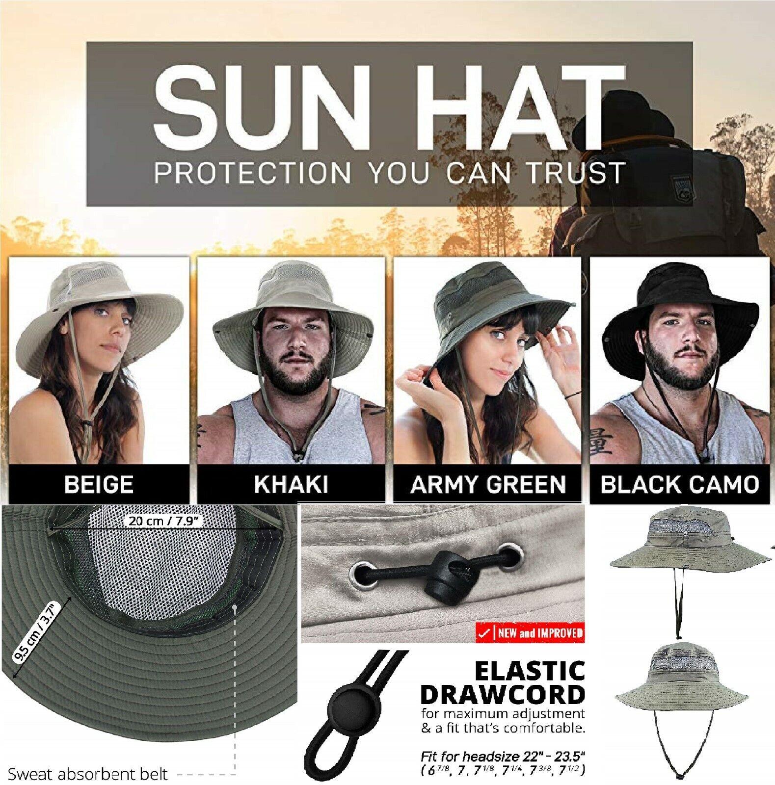 GearTOP Fishing Hat, Safari Cap with UPF 50 Sun Protection f