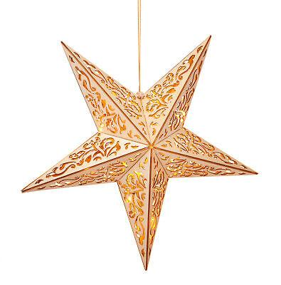 LED Holz Weihnachtsstern beleuchtet Adventsstern Fenster Deko Hänge Beleuchtung