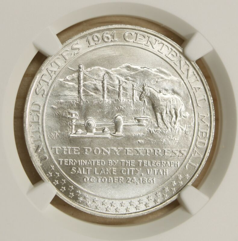 1961 Pony Express Termination HK-588 Silver So-Called $1 MS69 NGC 897D