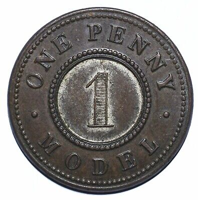 1844 UK One 1 Penny - Victoria Model - Lot 410